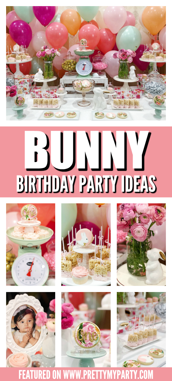 Some Bunny Is One Birthday Party on Pretty My Party