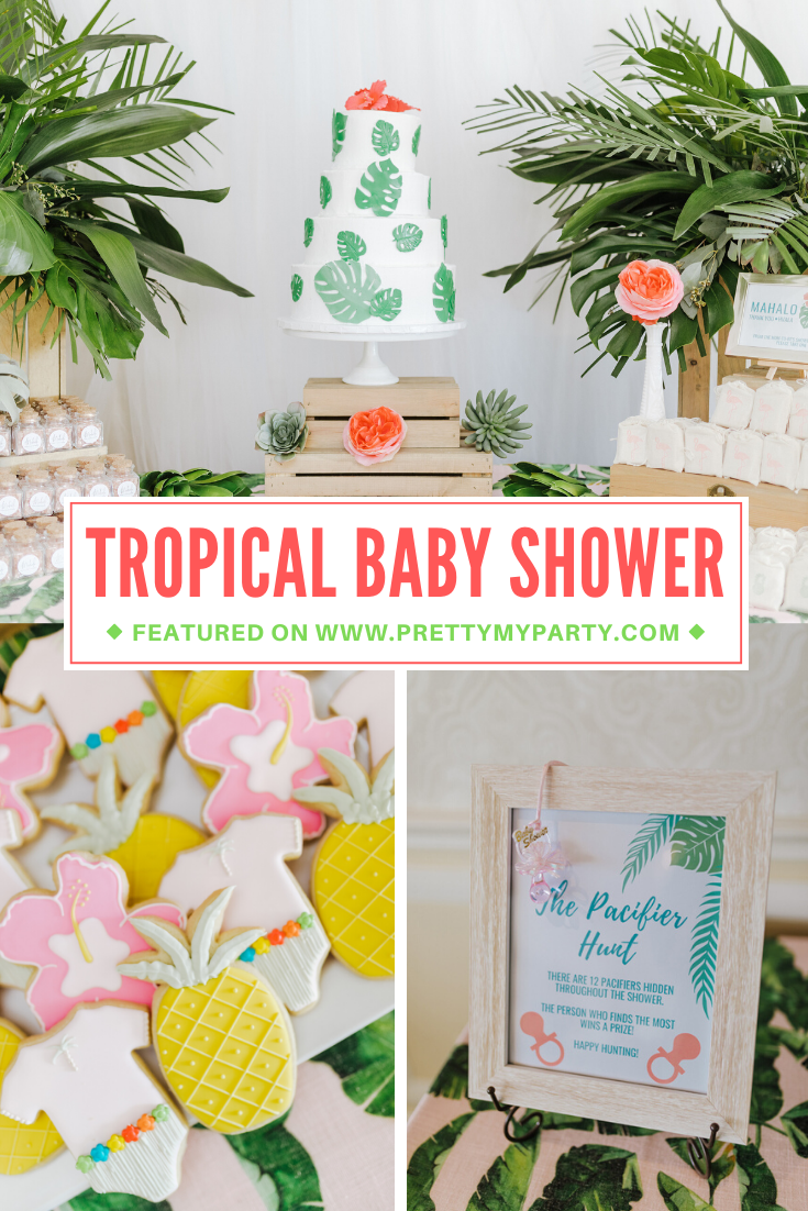 Tropical Aloha Baby Shower on Pretty My Party