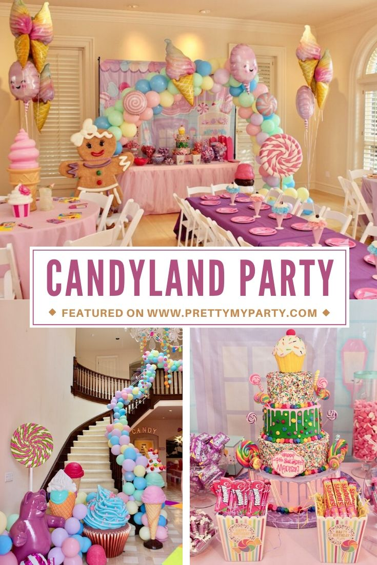 Whimsical Candyland BIrthday Party on Pretty My Party