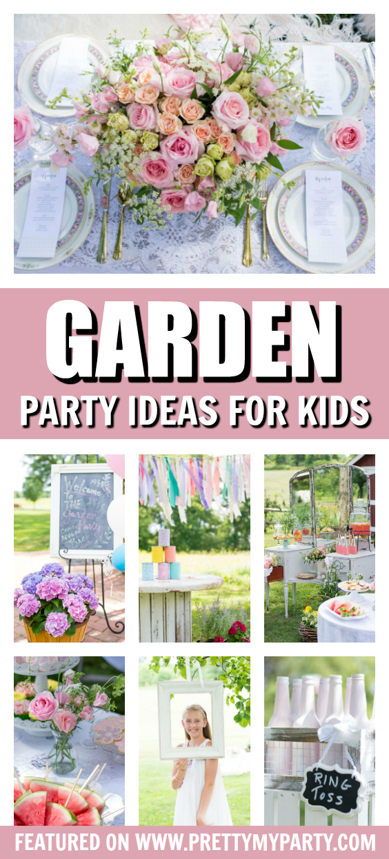Whimsical Kids Garden Party on Pretty My Party