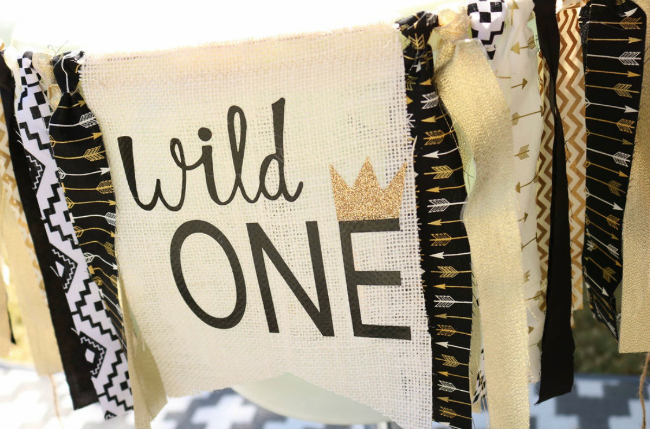 Wild One 1st Birthday High Chair Banner
