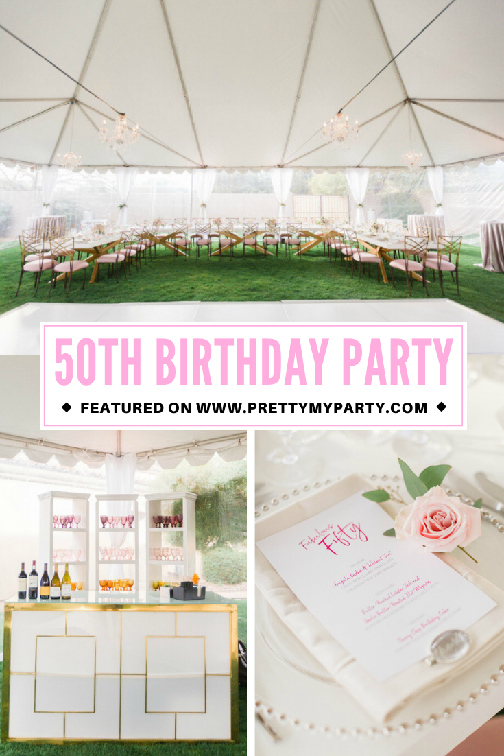 Chic Pink 50th Birthday Party Pretty My Party Party Ideas