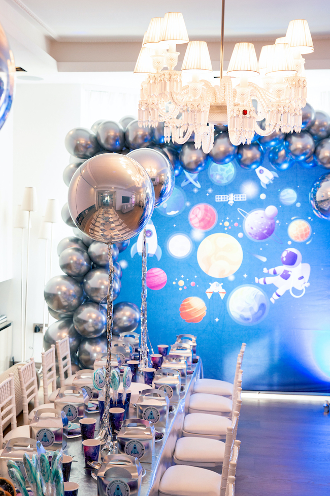 Outer Space Party Backdrop