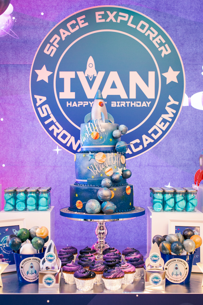 Out of This World Space Birthday Cake