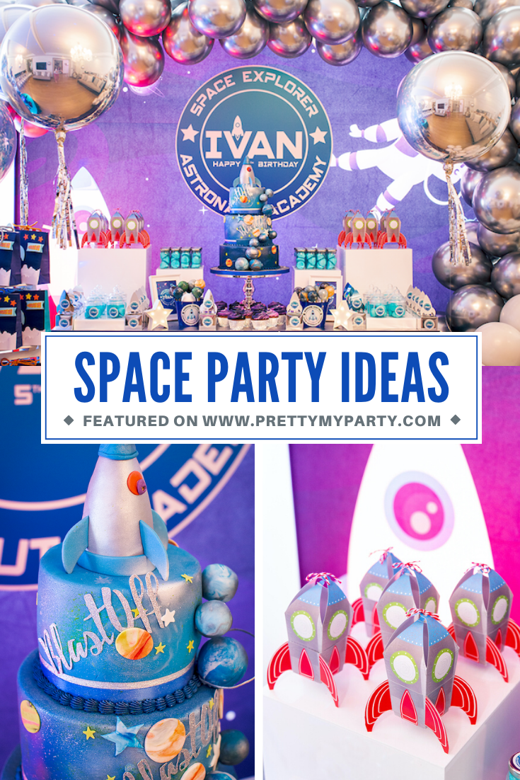 Astronaut Space Explorer Party on Pretty My Party