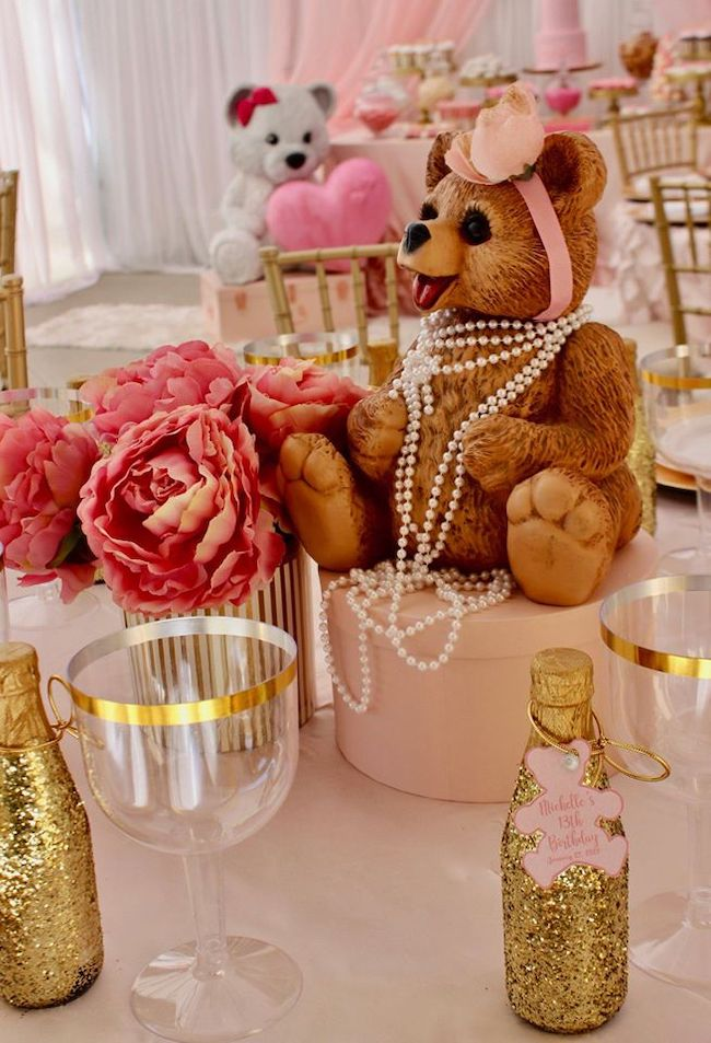 Bear With Pearls Centerpiece