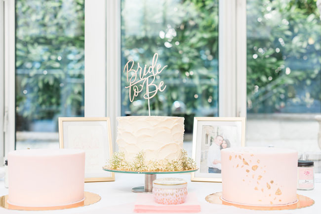 Indoor Garden Party Bridal Shower Cakes