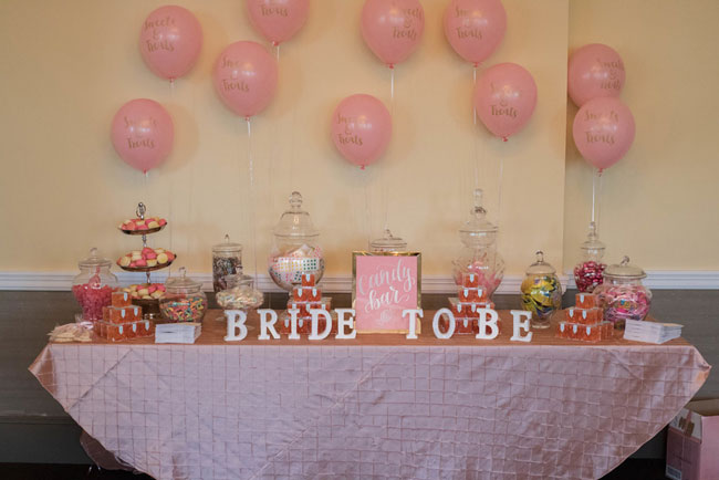 Rose Before the Big Day Bridal Shower Candy Table