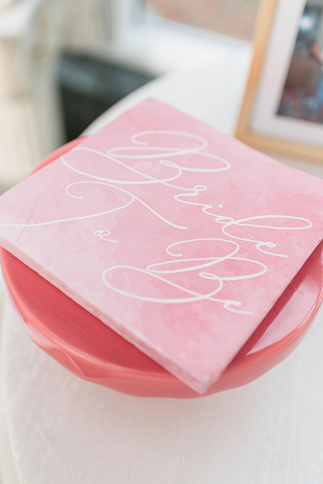 Pink Bridal Shower Bride To Be Napkins