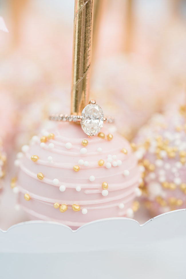 Indoor Garden Party Bridal Shower Engagement Ring