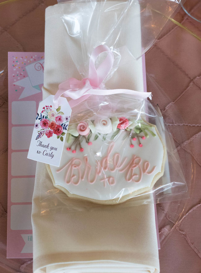 Rose Before the Big Day Bridal Shower Cookie Favors