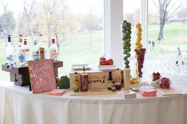 Rose Before the Big Day Bridal Shower Bloody Mary Bar