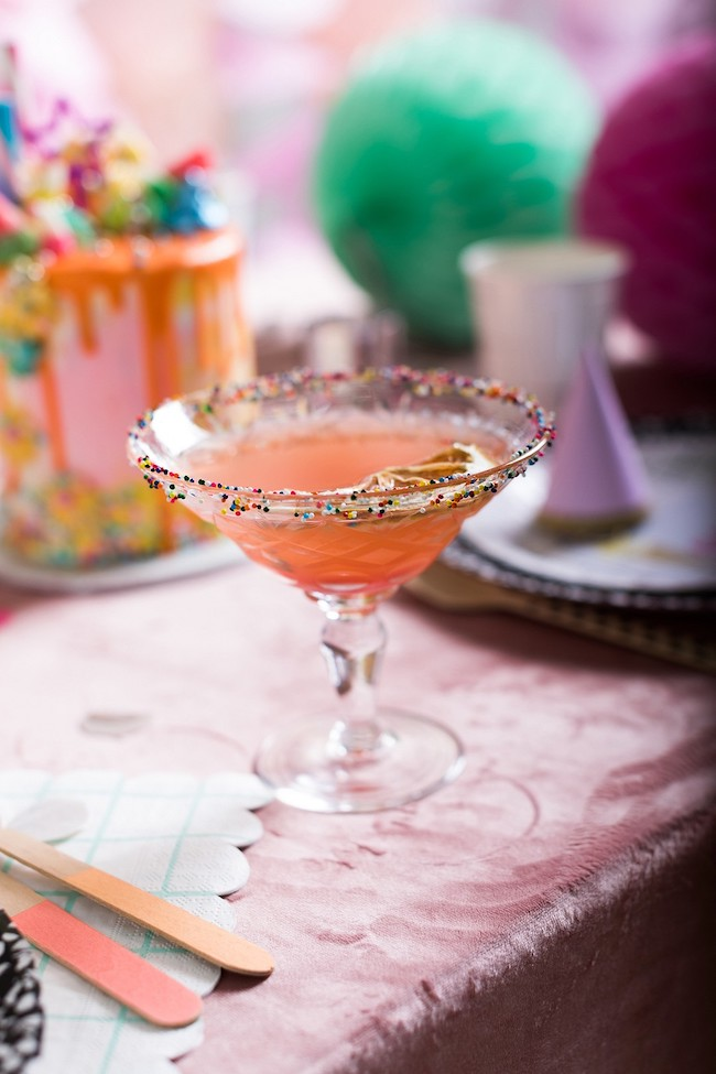 Signature Martini For Cocktail Birthday Party