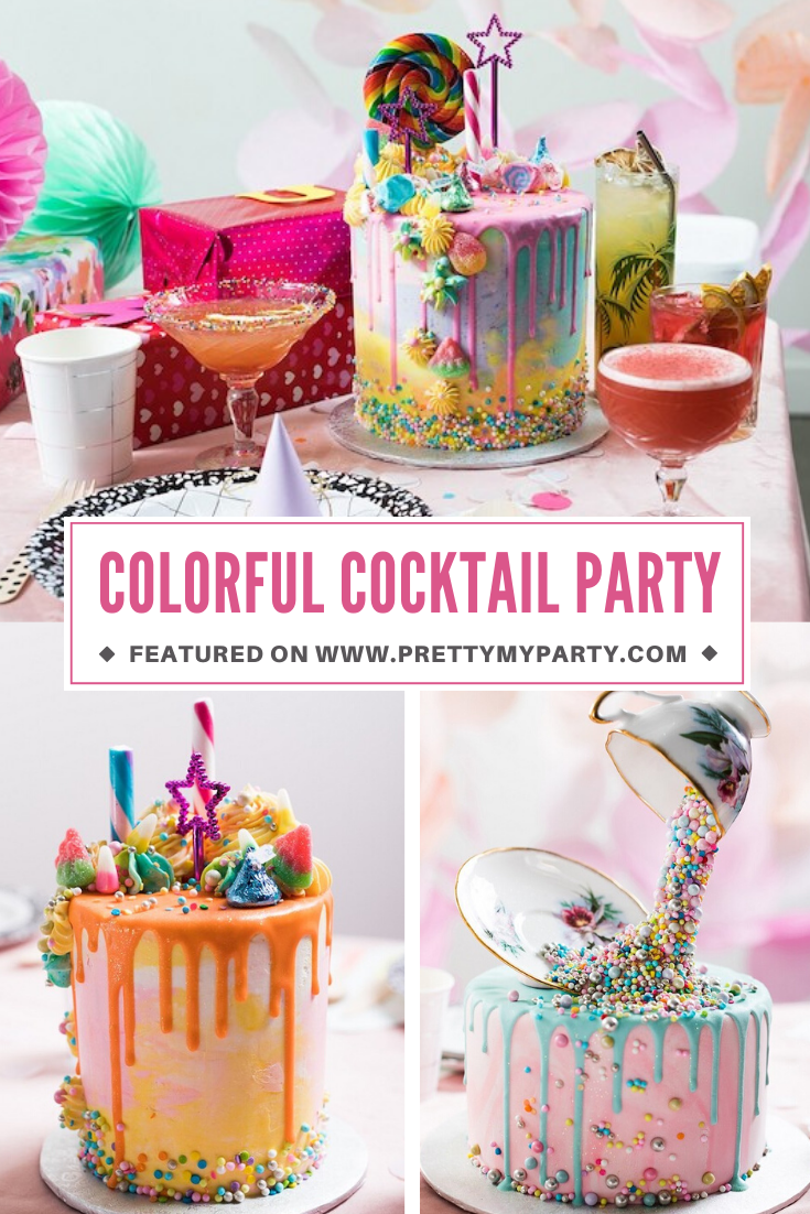 Colorful Cocktail Birthday Party on Pretty My Party