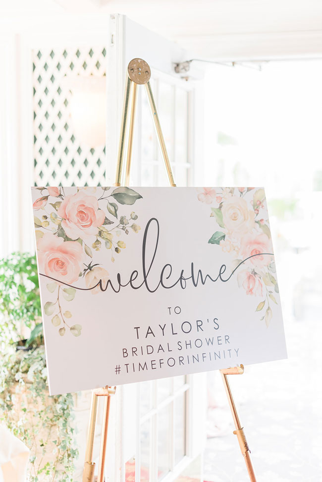 Indoor Garden Party Bridal Shower Welcome Sign