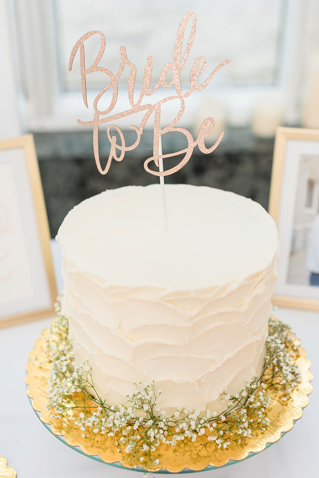 Gold Bride To Be Cake Topper