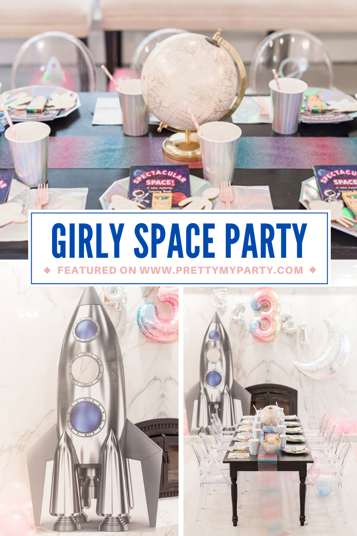 Girly Space Themed Birthday Party on Pretty My Party