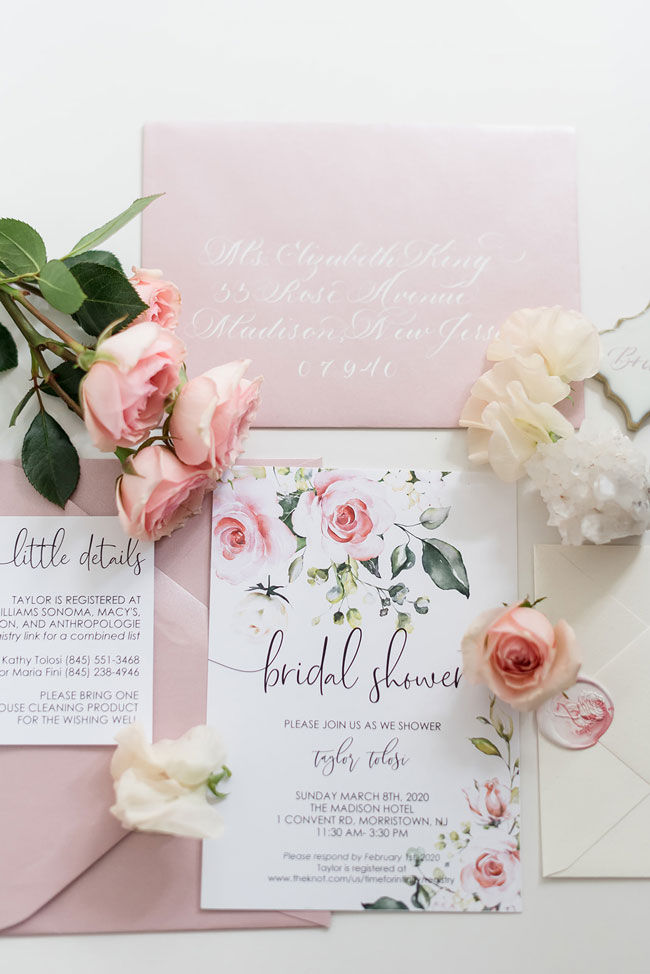 Pink Floral Garden Party Bridal Shower Invitation