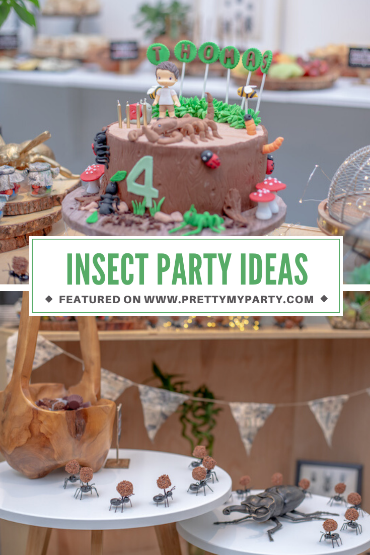 Bug Themed 4th Birthday Party on Pretty My Party