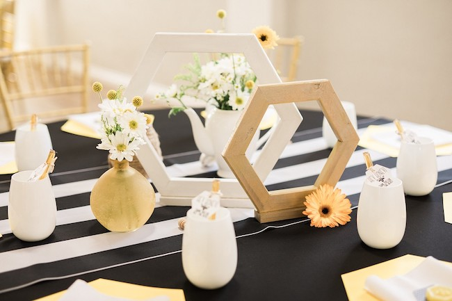 Bee Baby Shower Centerpieces