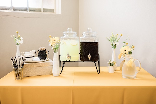 Bee Baby Shower Beverage Station