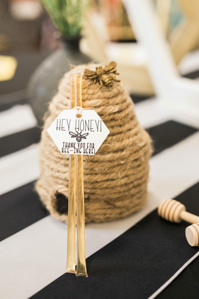 Honey Stick Baby Shower Favors