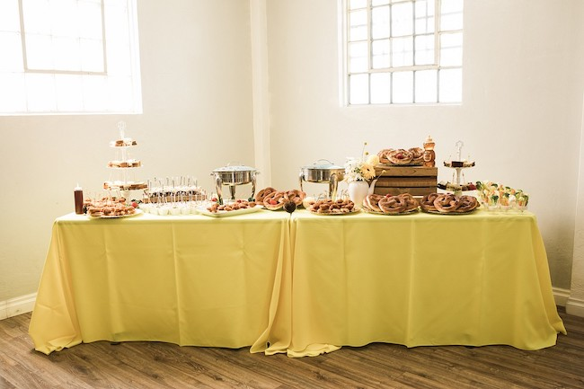Bee Theme Baby Shower Food Table