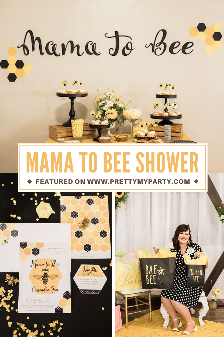 Mama To Bee Baby Shower on Pretty My Party