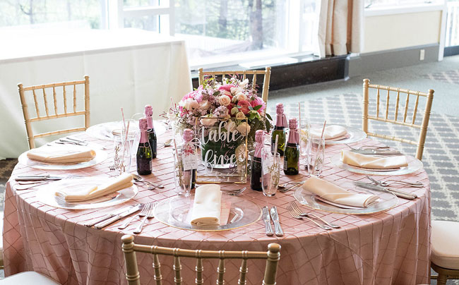 Rose Before the Big Day Bridal Shower Table