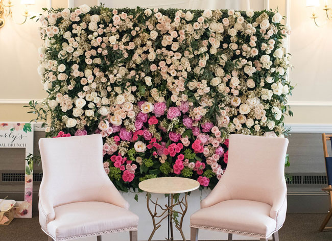 Rose Before the Big Day Bridal Shower Flower Wall Backdrop
