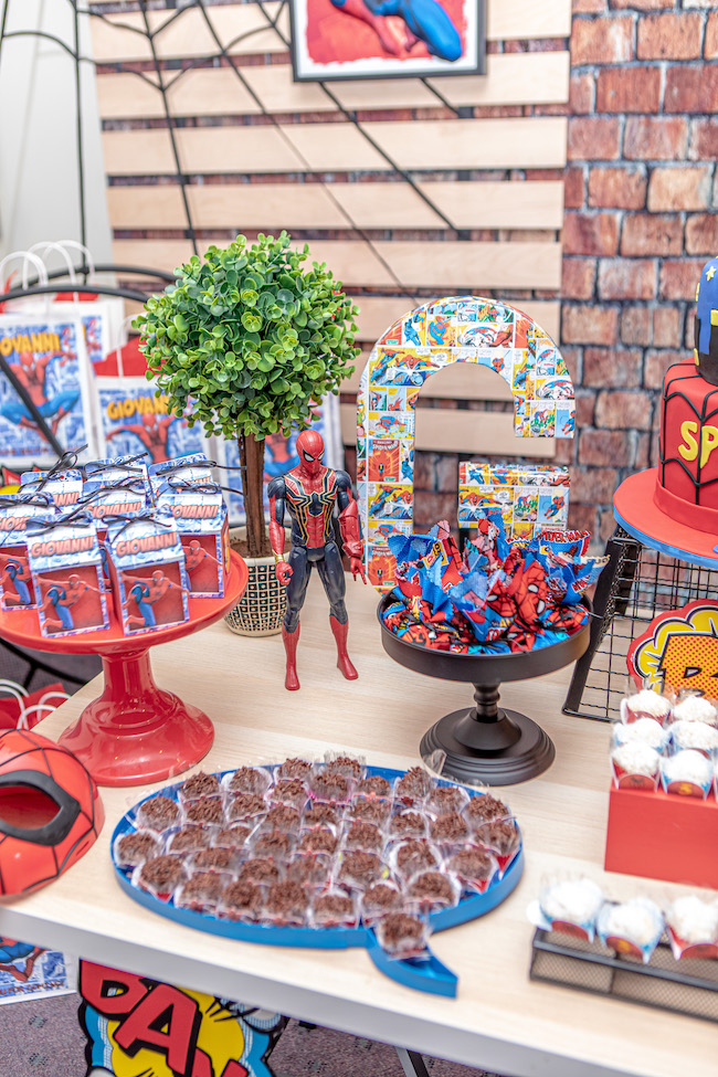 Spiderman Sweets Table