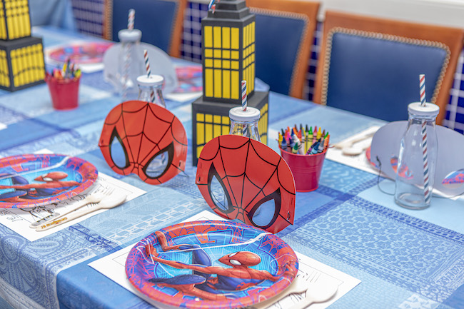 Spiderman Birthday Table