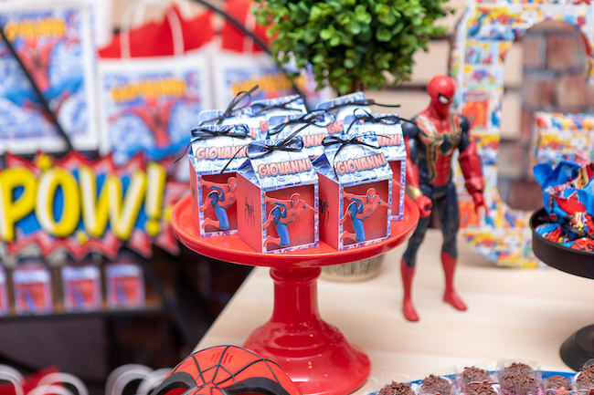 Spiderman Party Favor Boxes