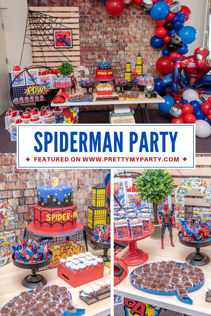 Spiderman Birthday Party on Pretty My Party