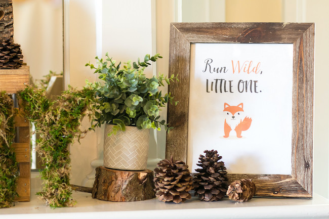 Run Wild Little One Fox Sign