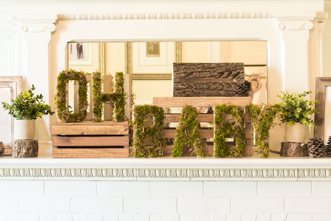 Oh Baby Moss Letter Decorations