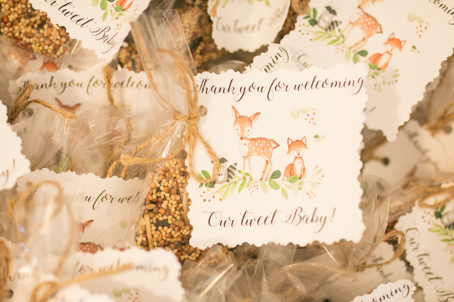 Woodland Animal Favor Tags