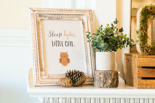 Sleep Tight Little One Owl Sign