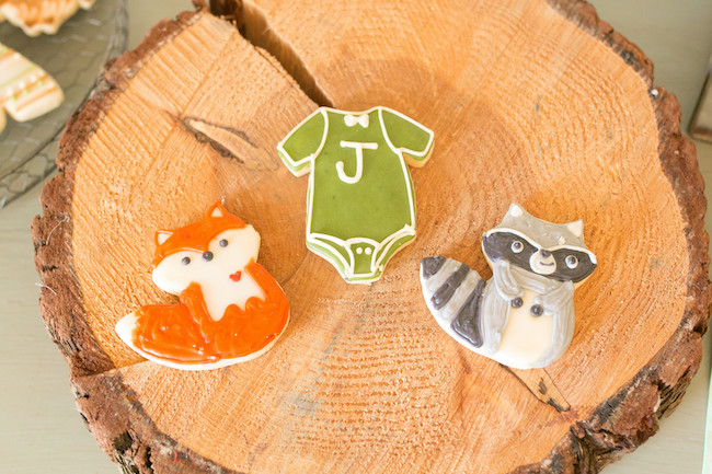Woodland Animal Baby Shower Cookies