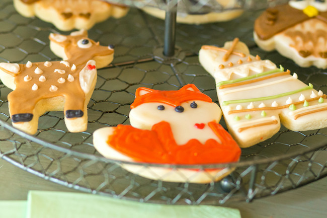 Woodland Animals Cookies