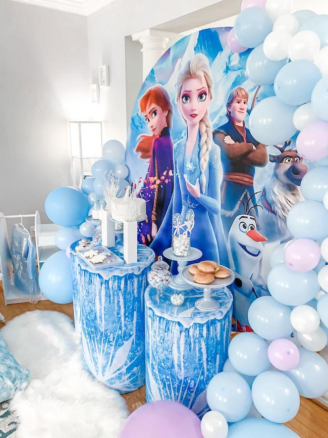 Frozen Themed Sleepover Party on Pretty My Party