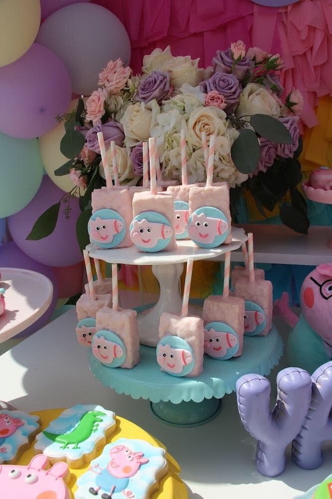 Rainbow Peppa Pig Birthday Party Pretty My Party Party