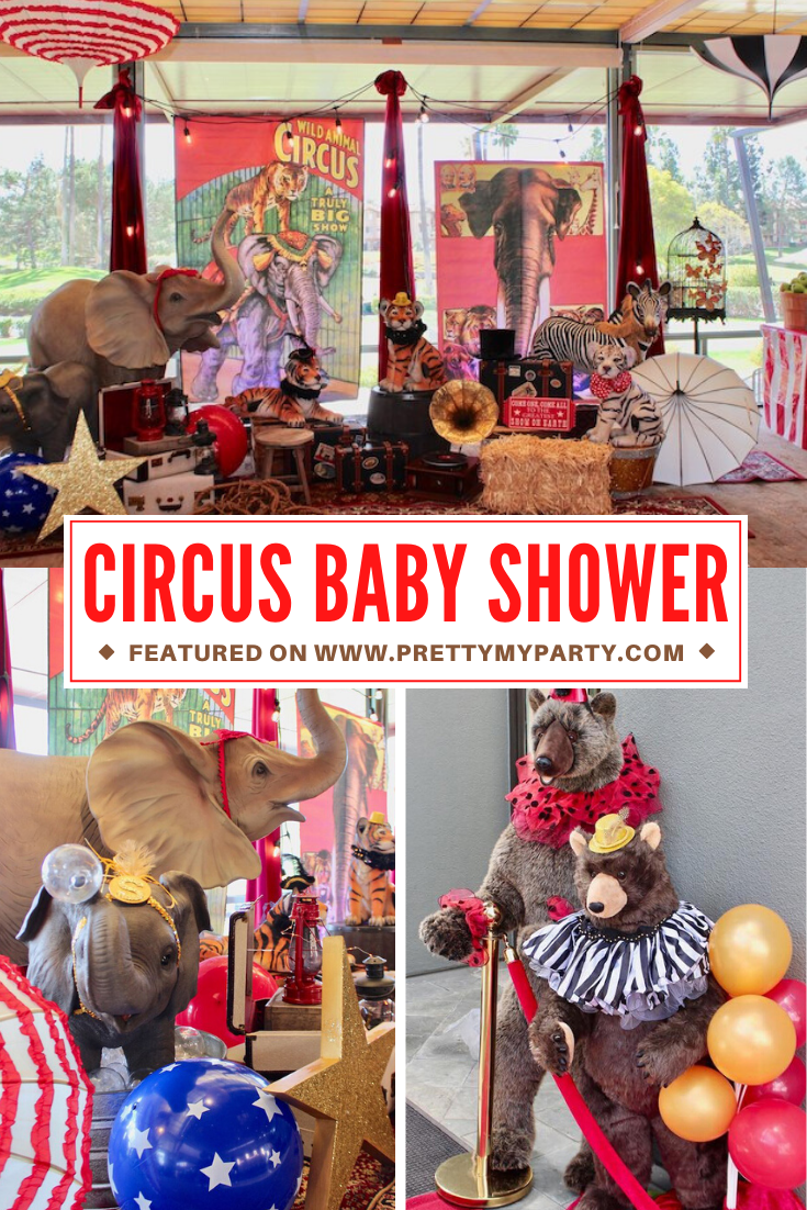 Vintage Circus Baby Shower on Pretty My Party