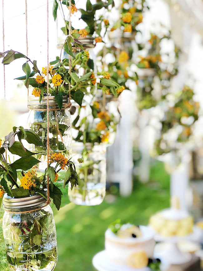 Lemon Themed Baby Shower Hanging Flower Decor