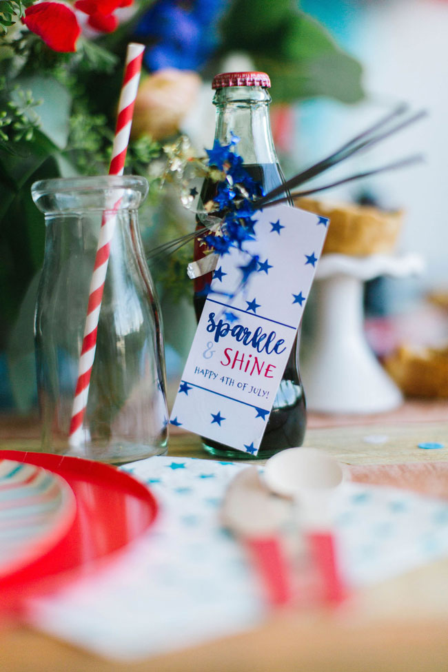 Chic Fourth of July Party Sparkler Favors