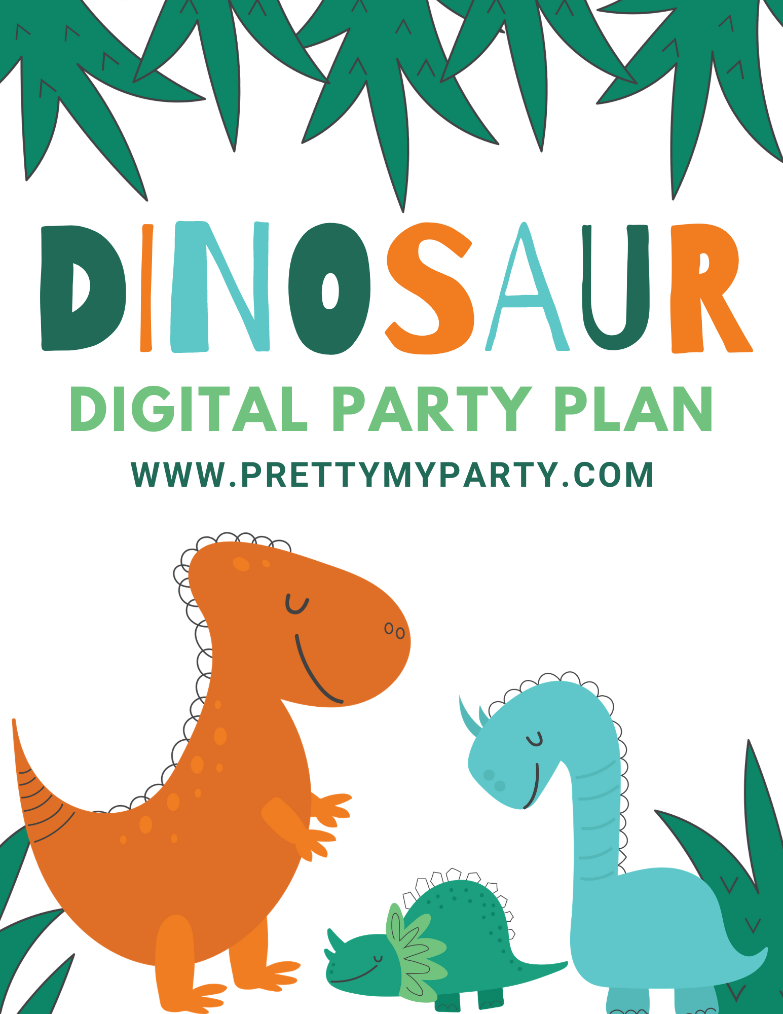 Dinosaur Party Digital Shopping Guide on Pretty My Party