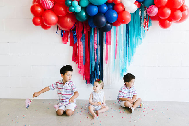 Chic Fourth of July Party Backdrop