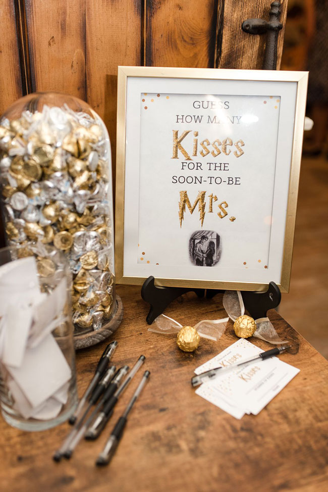 Magical Harry Potter Bridal Shower Guess How Many Kisses Game