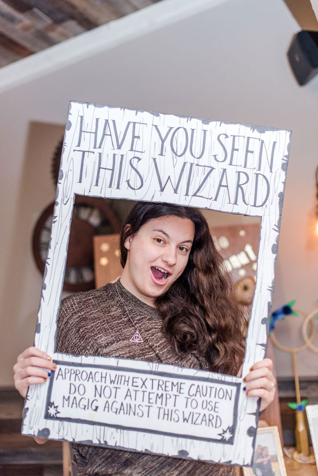 Magical Harry Potter Bridal Shower Photo Booth Frame