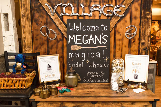 Magical Harry Potter Bridal Shower Welcome Sign